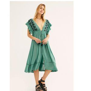 Free People Will Wait For You Midi Dress. L